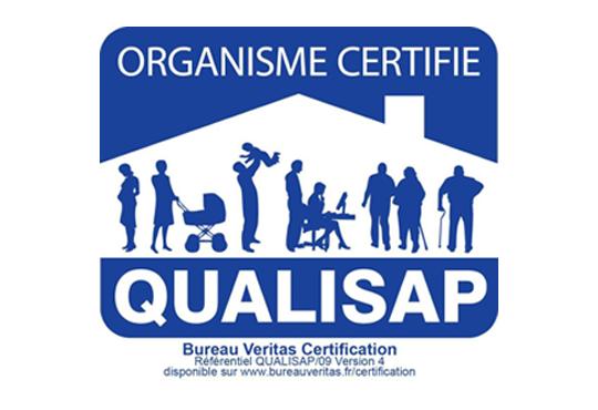 Logo Organisme certifié QUALISAP | ADN 87 aide à domicile