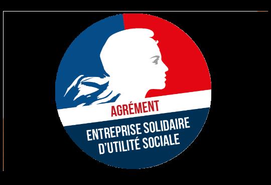 Logo agrément entreprise solidaire d'utilité sociale | ADN 87 aide à domicile