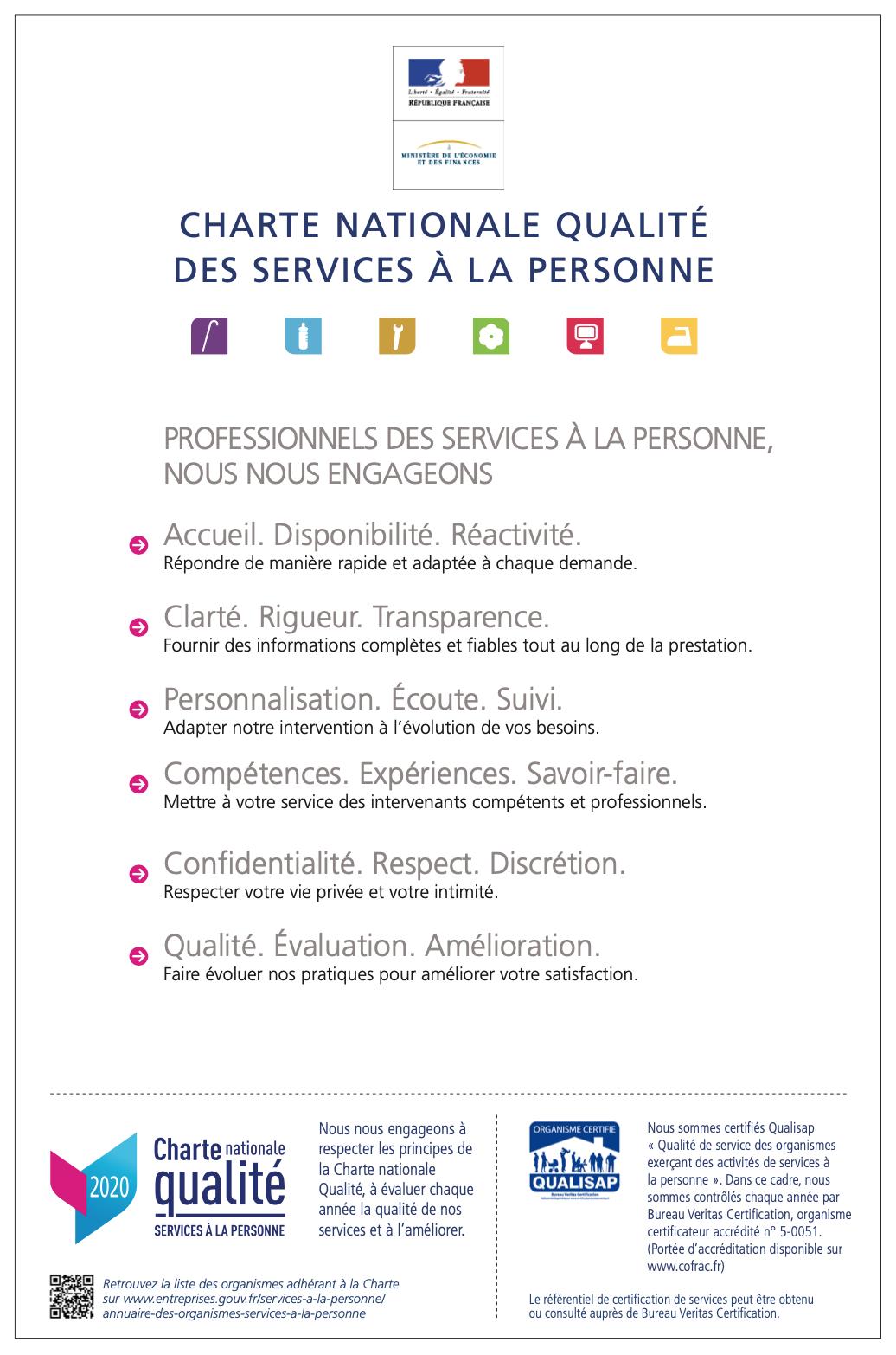 Charte qualité / Qualisap